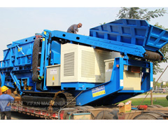 YIFAN two tracked crushers sent
